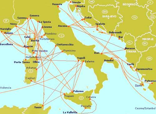 Touristie vous aide à réserver votre traversée maritime (Italie)