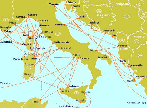 Carte Ferry Corse Italie.Touristie Vous Aide A Reserver Votre Traversee Maritime Italie